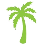 Vinyl Decal  Palm Tree LIme